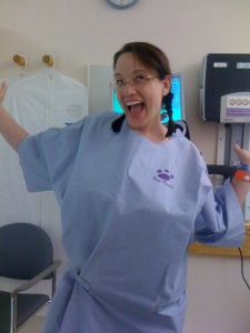 This is me, right before major sinus surgery, goofing around as usual! And this is BEFORE any loopy medication!