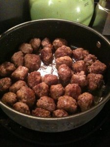 Italian meatballs based on my mom's style