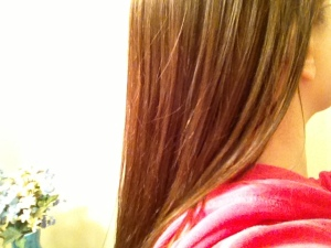 I love the feeling of my hair after just getting it done. So silky smooth!