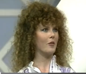 Screen capture of a young Nicole Kidman during an interview.