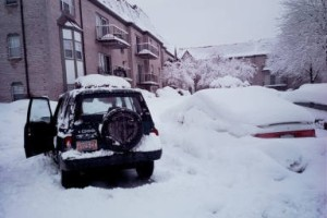 Digging out to go to work, 1998.