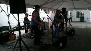 My cousin's hubby, Jack, and his band performed for everything at the event.