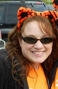 My friend and college roommate, Lisa, and her daughter, Mia, gave me these tiger ears!