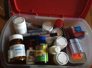 Big enough to carry all my daily meds but small enough to be portable and take with me.