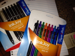 I asked Ken to pick me up some pens and he came home with a set of colors and a package of black ink. He knows me so well!