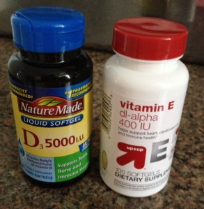 I take 15,000 IU of Vitamin D3 and 1200 IU of Vitamin E daily.