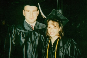 Ken and me at graduation.