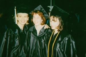 Lisa, Jen and me - old roommates and lifelong sisters - at graduation.