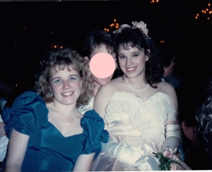 My best friend Patty and me at our Junior Cotillion.