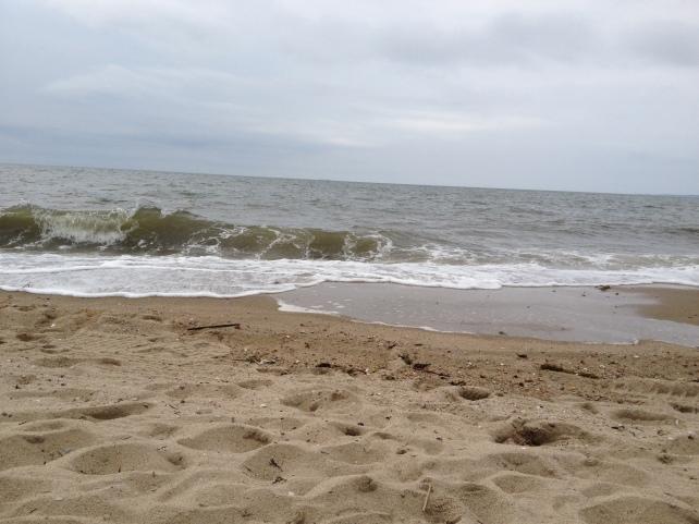 Huge waves at Hammonassett Beach, Madison, CT.