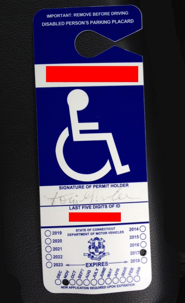 My Handicapped Parking Permit