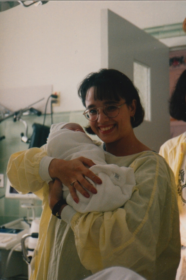 The day I became an auntie in July, 1995.