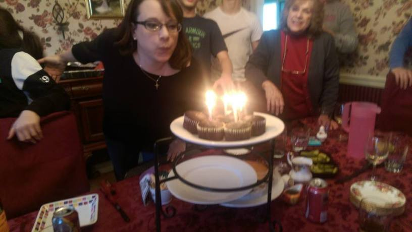 I needed help blowing out the candles, but I did it!